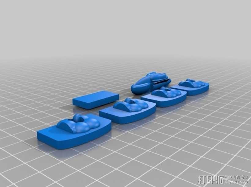 3D打印的迷你棋盘游戏 3D模型  图10