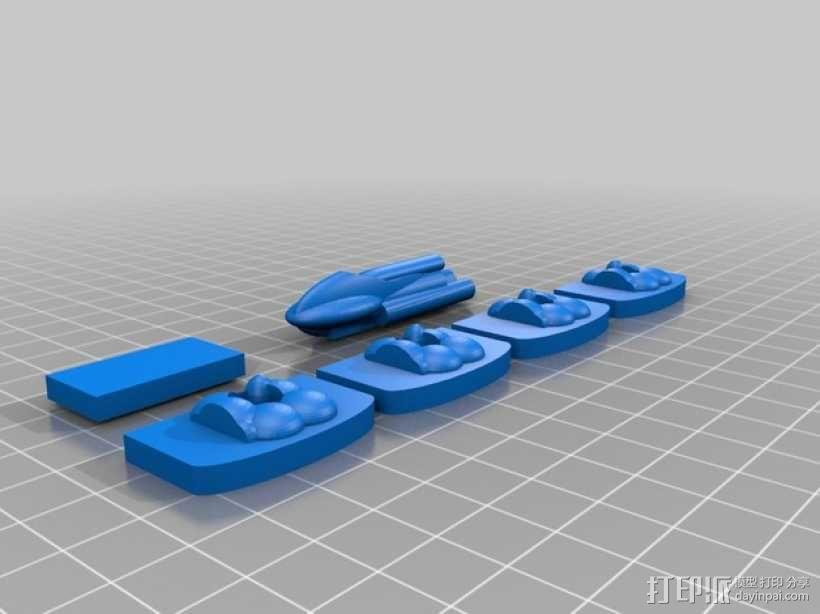 3D打印的迷你棋盘游戏 3D模型  图9