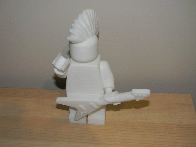 乐高玩偶中的吉他模型 3D模型  图1