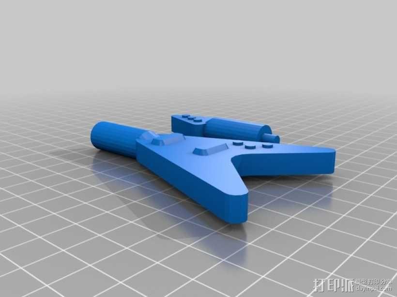 乐高玩偶中的吉他模型 3D模型  图2