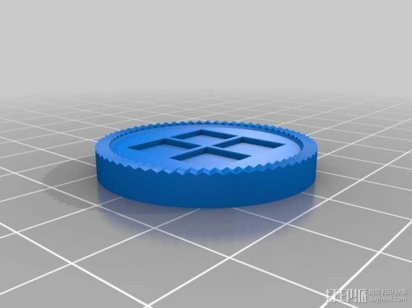 跳棋棋子 3D模型  图2