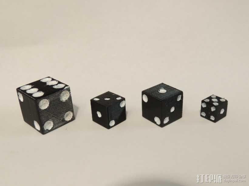 迷你骰子模型 3D模型  图1