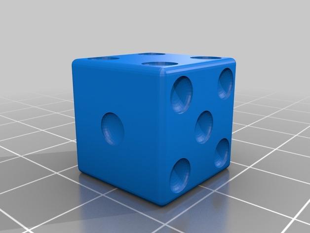 迷你骰子模型 3D模型  图2