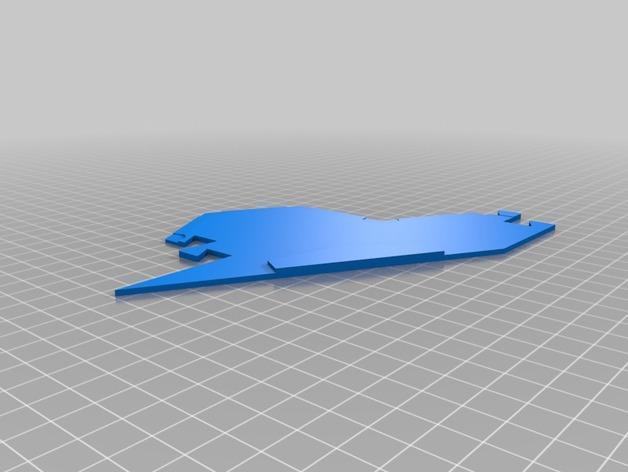 3D打印的迷你瓷砖 3D模型  图2