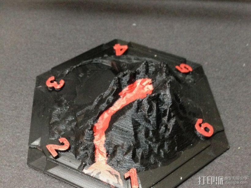 游戏《卡坦岛》中火山模型 3D模型  图1