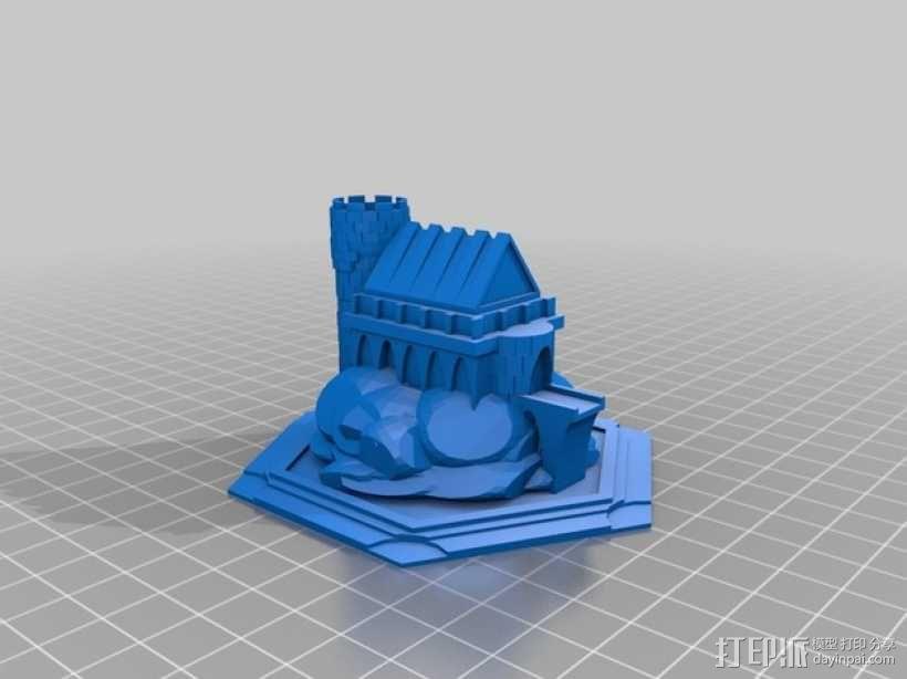 游戏《卡坦岛》中巫师城堡模型 3D模型  图2
