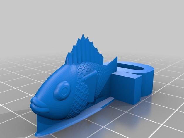 游戏《卡坦岛》中Chevron鱼模型 3D模型  图2