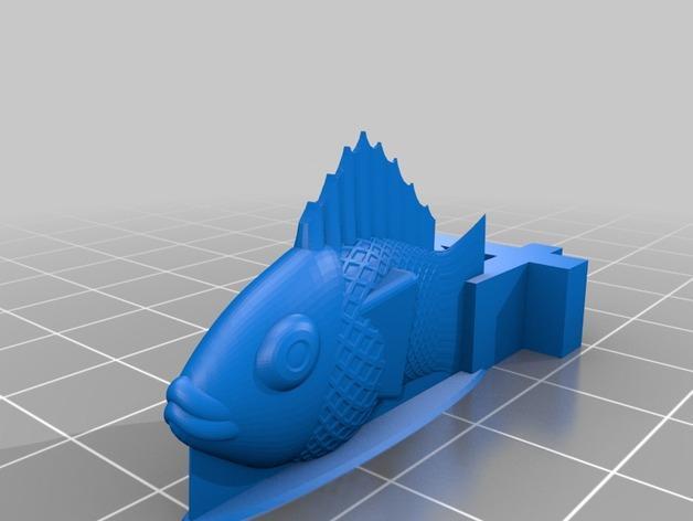 游戏《卡坦岛》中Chevron鱼模型 3D模型  图4
