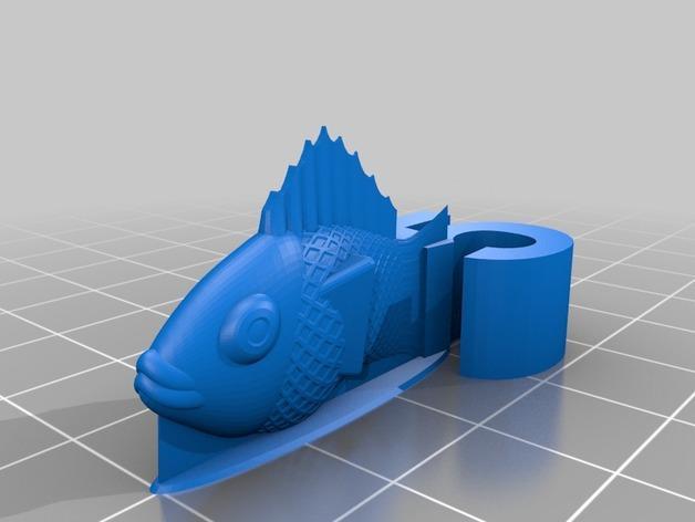 游戏《卡坦岛》中Chevron鱼模型 3D模型  图3