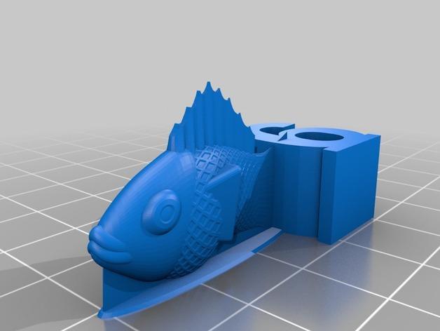游戏《卡坦岛》中Chevron鱼模型 3D模型  图5