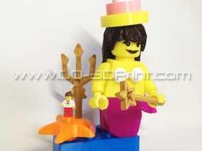 乐高玩具中迷你美人鱼模型 3D模型