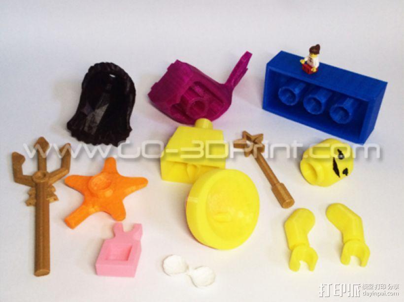 乐高玩具中迷你美人鱼模型 3D模型  图3
