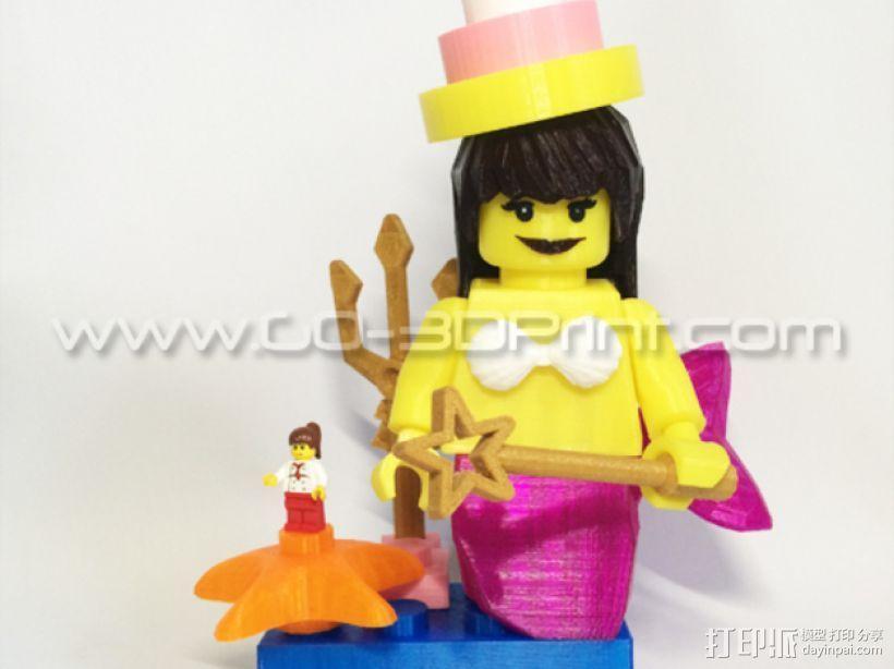 乐高玩具中迷你美人鱼模型 3D模型  图4
