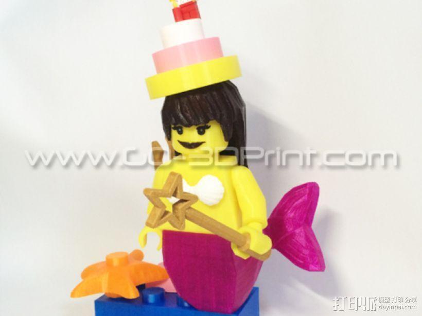 乐高玩具中迷你美人鱼模型 3D模型  图7