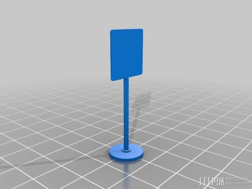 迷你信号指示牌 3D模型  图3