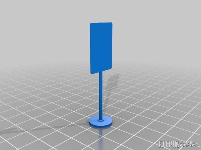 迷你信号指示牌 3D模型  图5