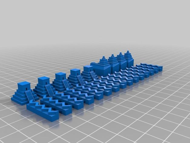 游戏《卡坦岛》中的帝国模型 3D模型  图2