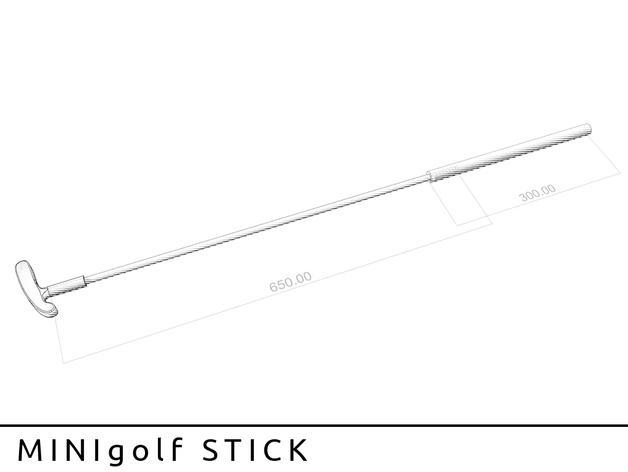 迷你高尔夫球推杆 3D模型  图2