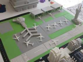 3D打印迷你飞机场模型 3D模型