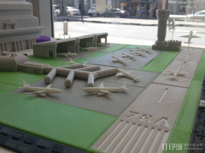 3D打印迷你飞机场模型 3D模型  图33