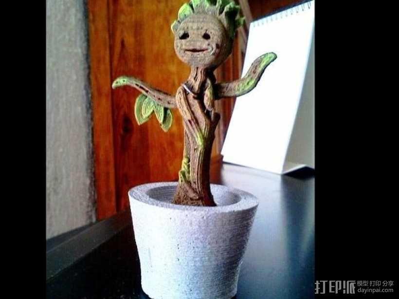 会跳舞的树精Groot 3D模型  图1