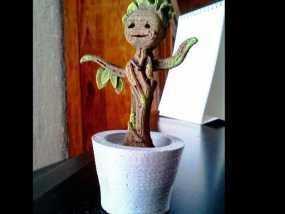 会跳舞的树精Groot 3D模型