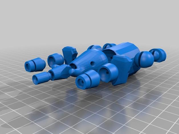 球形大象模型 3D模型  图1