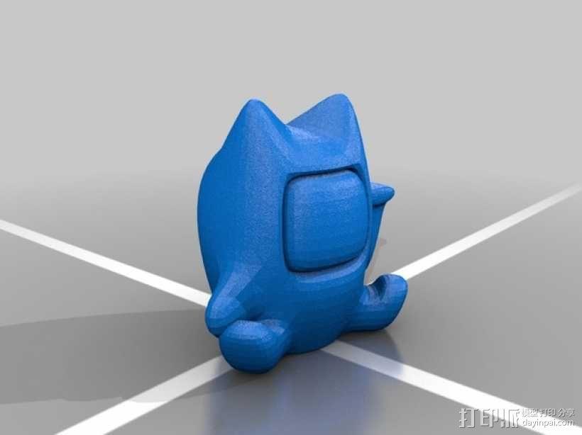 个性化招财猫模型 3D模型  图2