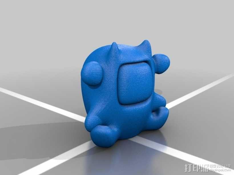 个性化招财猫模型 3D模型  图4