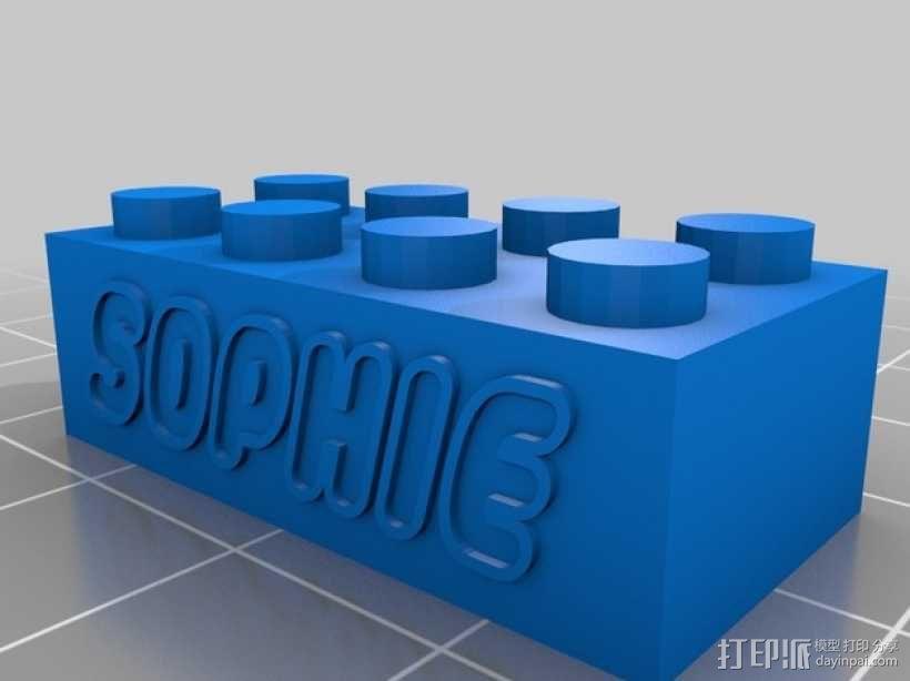 个性化的乐高玩具模型 3D模型  图1