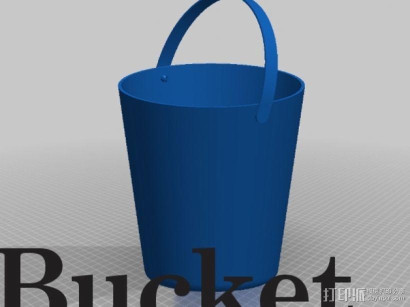 迷你水桶模型 3D模型  图1