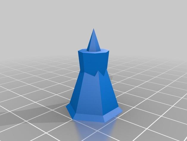抽象化的象棋棋子 3D模型  图5