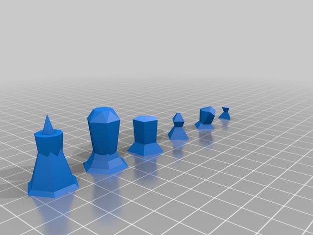 抽象化的象棋棋子 3D模型  图8