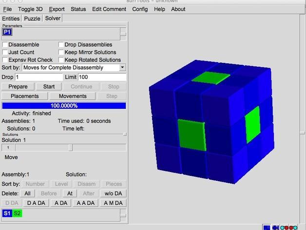 基于Menger定理的魔方 3D模型  图2