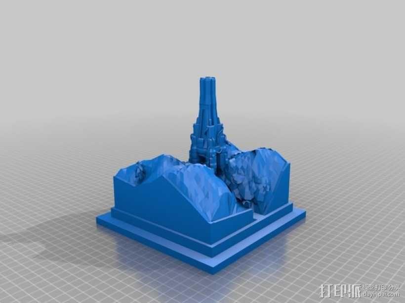 游戏《虚幻竞技场2004》中Torlan塔模型 3D模型  图1