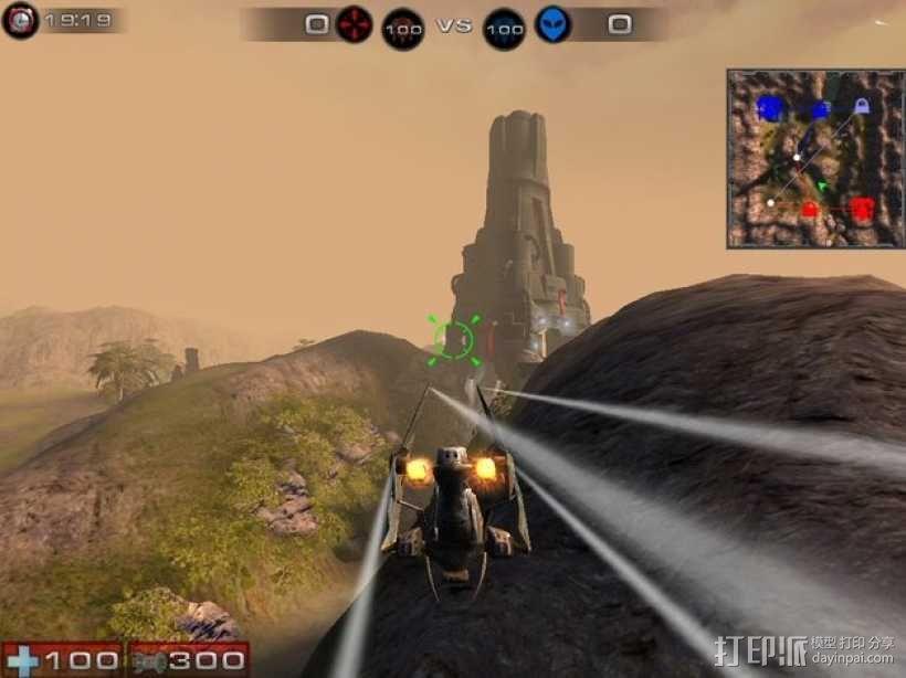 游戏《虚幻竞技场2004》中Torlan塔模型 3D模型  图2