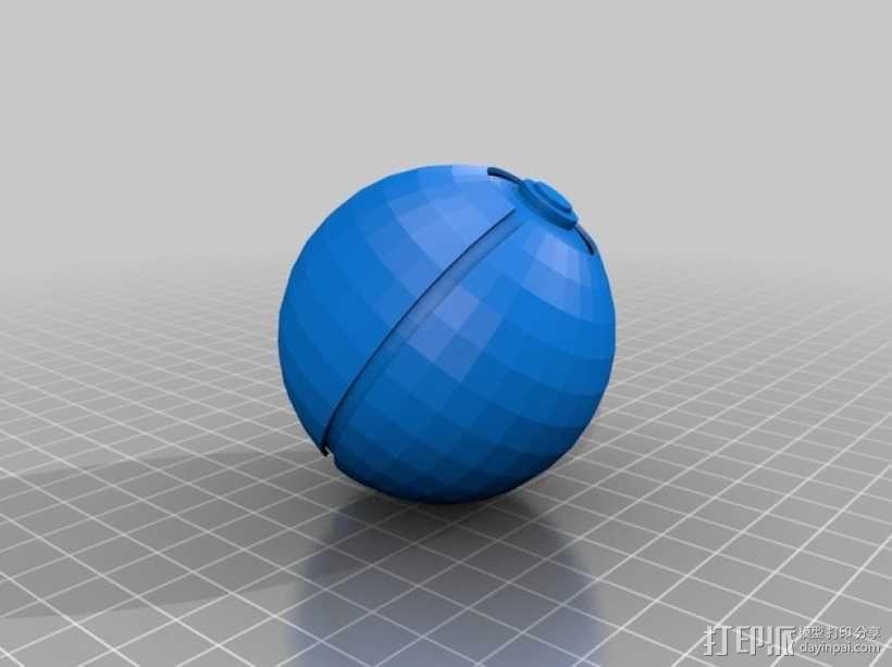 神奇宝贝球模型 3D模型  图1