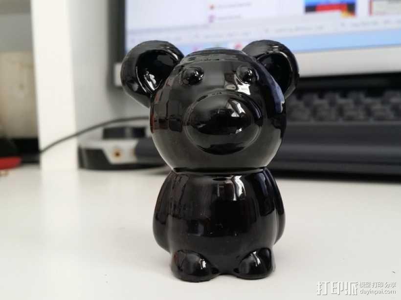 小熊玩偶 3D模型  图1