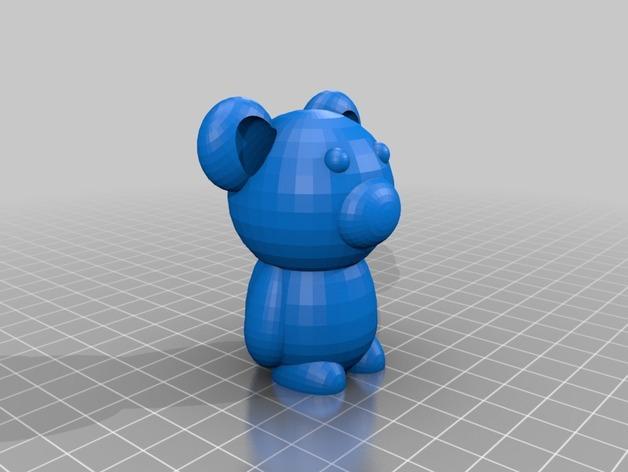 小熊玩偶 3D模型  图2