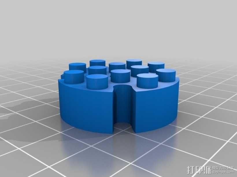 乐高圆形积木模型 3D模型  图1