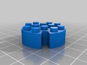 乐高圆形积木模型 3D模型