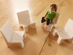Playmobil玩具椅模型 3D模型