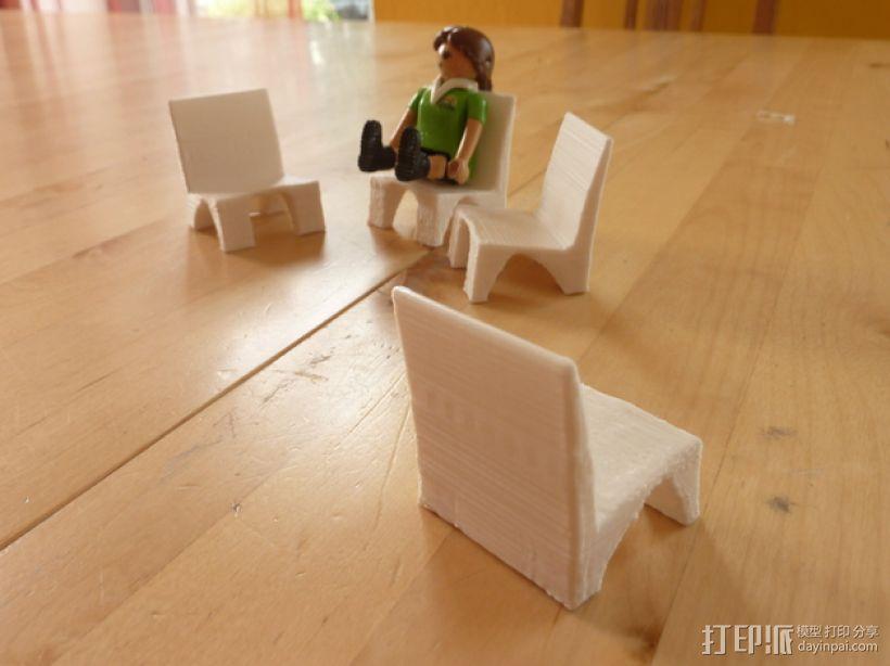 Playmobil玩具椅模型 3D模型  图3