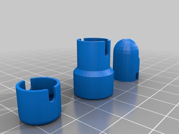 节流阀端盖模型 3D模型  图2