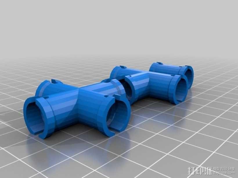 管道相贯节点模型 3D模型  图2