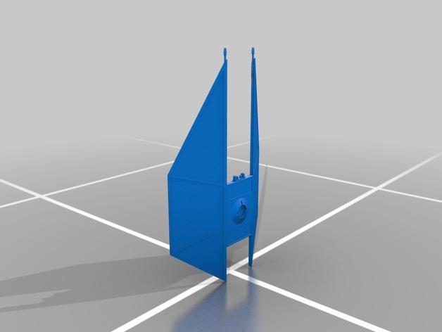 钛防御机模型 3D模型  图1