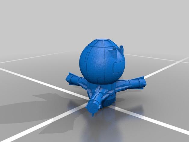 钛防御机模型 3D模型  图2