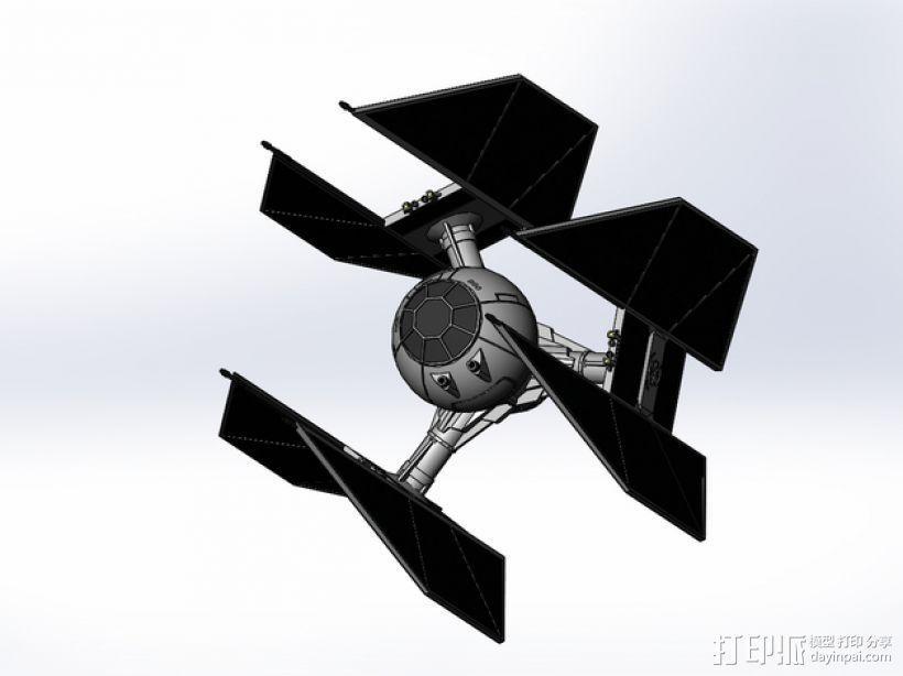 钛防御机模型 3D模型  图4