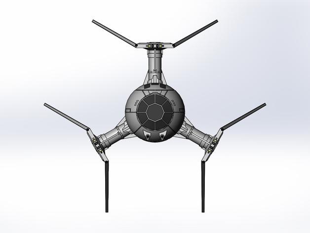 钛防御机模型 3D模型  图5