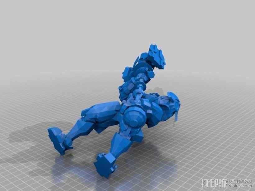 带有金属外壳的杰斯模型 3D模型  图1